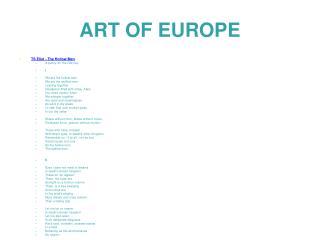 ART OF EUROPE