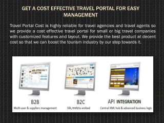 Get a Cost Effective Travel Portal for Easy Management