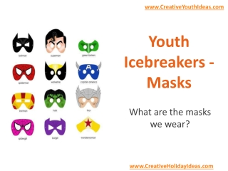 Youth Icebreakers - Masks