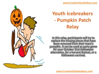 Youth Icebreakers - Pumpkin Patch Relay