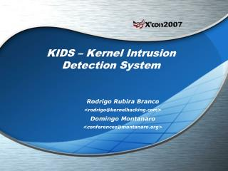 KIDS – Kernel Intrusion Detection System