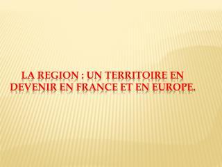 Doc.1 Le Languedoc-Roussillon, espace de transit