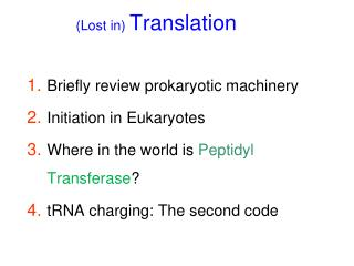 (Lost in) Translation