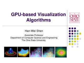 GPU-based Visualization Algorithms