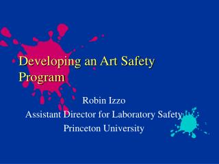 Developing an Art Safety Program