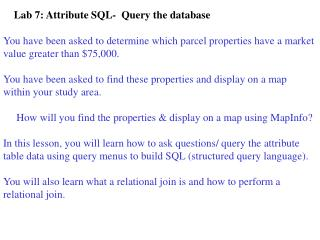 Lab 7: Attribute SQL-  Query the database