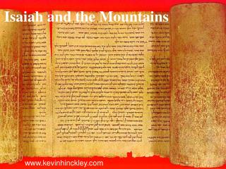 Isaiah and the Mountains