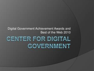 Center for Digital Government