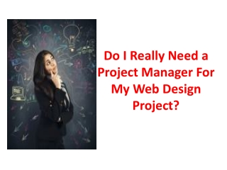 Do I Really Need a Project Manager For My Web Design Project