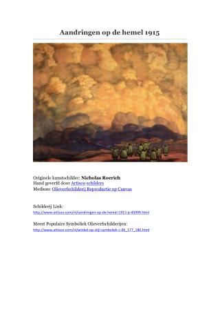 Aandringen op de hemel 1915 -- Artisoo