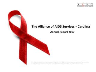 The Alliance of AIDS Services • Carolina