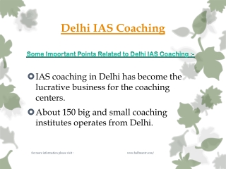 Discussion about Delhi IAS Coaching