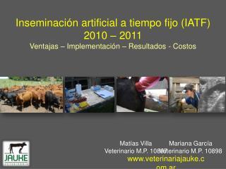 Matías VillaVeterinario M.P. 10897