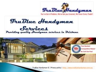 TruBlueHandyman Brisbane - Quality Handyman Services