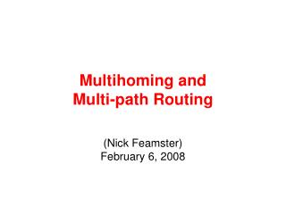 Multihoming and 