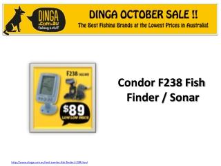 Condor F238 Fish Finder / Sonar in october sale at Dinga !