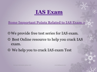 Discussion about IAS Exam