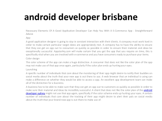 android developer canberra