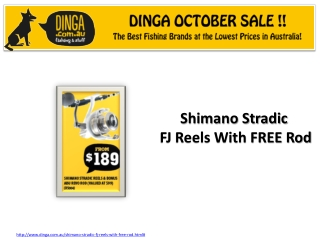 Shimano Stradic FJ Reels in October Sale at Dinga !
