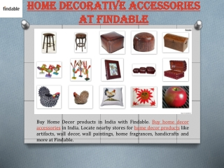 Decorative Home Accessories in India