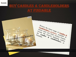 Branded Candles and candle holders at Findable