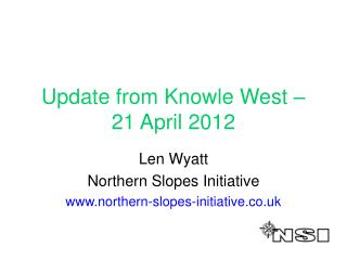 Update from Knowle West – 21 April 2012