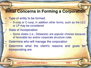 corporate concerns in