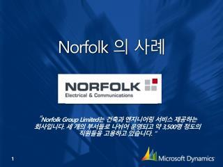 Norfolk 의 사례