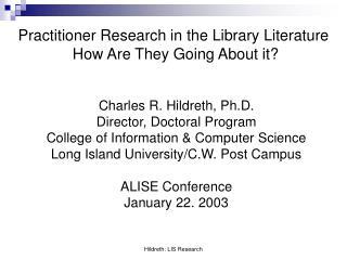 Hildreth: LIS Research