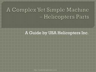 helicopters parts
