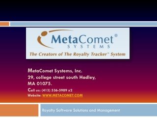 Royalty Software Solutions for Accounting and Management