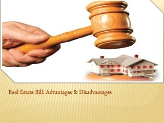 Real Estate Bill: Advantages