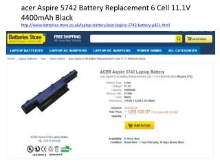 Acer Aspire 5742 battery