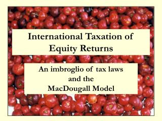 International Taxation of Equity Returns