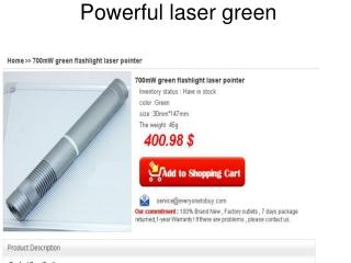 powerful green laser pointer