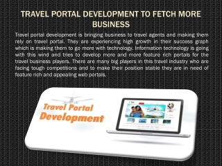 Travel Portal Development to Fetch More Business
