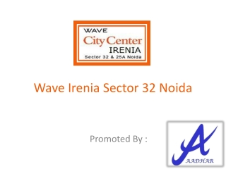 Wave Irenia Noida @9810118351 Wave Infratech New Project Cit