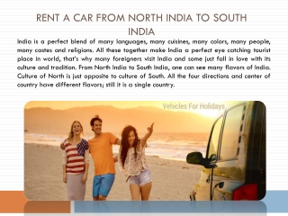 Rent a Car from North India to South India