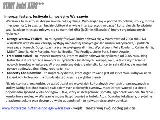 Nocleg w Warszawie
