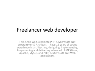 Freelance Web Developer | Freelance Web Designer | Design Mi