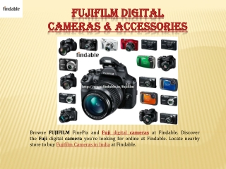 Buy Fujifilm Cameras in India with Findable