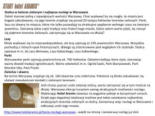 Nocleg Warszawa