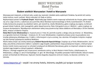 Hotele w Warszawie