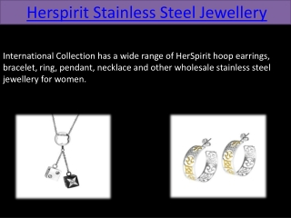 Herspirit Stainless Steel Jewellery