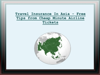 Travel Insurance In Asia