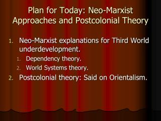 Marxist IR Approaches: