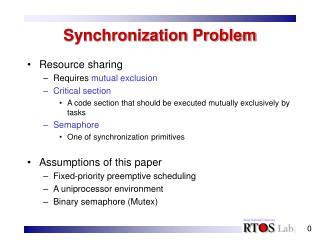 Synchronization Problem