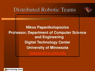 distributed robotic teams