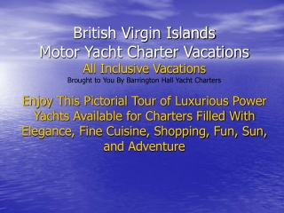 British Virgin Islands Charter