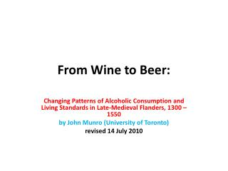 From Wine to Beer: